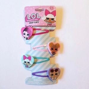 LOL SURPRISE DOLLS HAIR SNAP CLIPS SET OF 4
